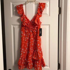 Floral Print Ruffled Mini Dress